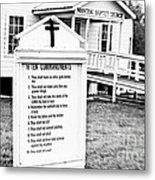 Ten Commandments Metal Print