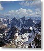 T-703502-ten Peaks From Summit Of Mt. Lefroy Metal Print