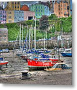 Tenby Harbour In Summer 4 Metal Print