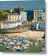 Tenby Harbour Metal Print