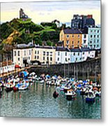 Tenby Harbour Panorama Metal Print