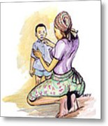 Tender Mother Metal Print