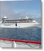 Tendered Ship Metal Print