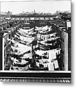 Tenement Housing Laundry Metal Print