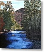 Tennessee A River Through The Woods Metal Print