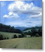 Tennessee's Rolling Hills And Clouds Metal Print