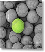 Tennis Balls Background Texture Metal Print by Phaitoon Sutunyawatcahi