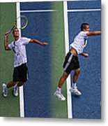 Tennis Serve By Mikhail Youzhny Metal Print