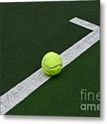 Tennis - The Baseline Metal Print