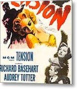 Tension, Us Poster, From Top Audrey Metal Print