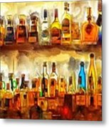 Tequila Bar At Aquila Restayrant Metal Print