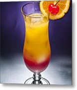 Tequila Sunrise Cocktail Metal Print