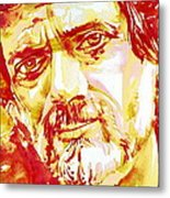 Terence Mckenna Watercolor Portrait.2 Metal Print