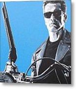 Terminator I'll Be Back Metal Print