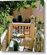 Terrace At A Guest House At Waterloo Metal Print