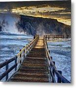 Terrace Boardwalk Metal Print