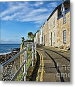 Terraced Cottages At Mousehole Metal Print