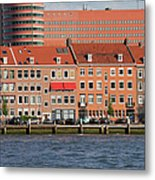 Terraced Houses In Rotterdam City Centre Metal Print