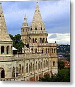 Terraces And Towers Of Fishermans Bastion Metal Print
