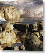 Terraces, Mammoth Hot Springs Metal Print