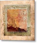 Terracotta Earth Tones Metal Print