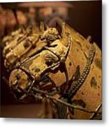 Terracotta Horses Metal Print