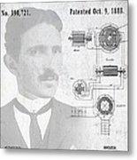 Tesla A / C Current Patent Art 1888 Metal Print