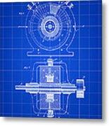 Tesla Alternating Electric Current Generator Patent 1891 - Blue Metal Print
