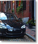 Tesla On Acorn Metal Print