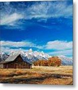 Teton Autumn Metal Print