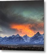 Teton Explosion Metal Print by Mark Kiver