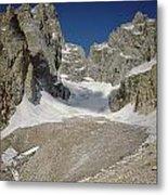1m9385-teton Glacier Metal Print