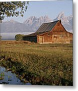 Teton Morning Magic Metal Print
