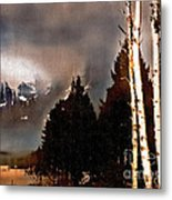 Teton Storm Metal Print