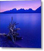 Teton Summer Sunset Metal Print