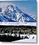 Teton Valley Winter Grand Teton National Park Metal Print