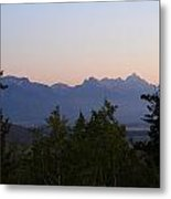 Tetons In The Morning Metal Print