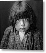 Tewa Indian Child Circa 1905 Metal Print