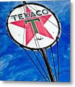 Texaco Gasoline Metal Print by Merrick Imagery