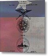 Texas Badge Patent On Texas Flag Metal Print