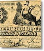 Texas Banknote, 1841 Metal Print