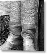 Texas Boots Portrait - Bw 03 Metal Print