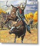 Texas Bull Rider Metal Print by Jeff Brimley
