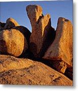 Texas Canyon Golden Boulders Metal Print