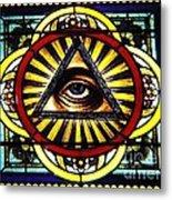 Eye Of Providence Texas Church Window Metal Print