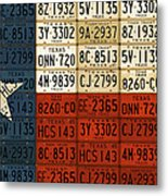 Texas Flag The Lone Star State License Plate Art Metal Print