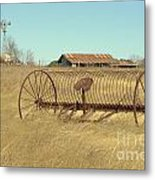 Texas Hill Country Farmscape Metal Print