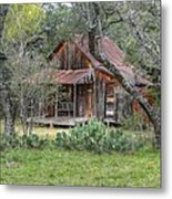 Texas Hill Country House Metal Print