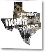 Texas Map Cool Metal Print