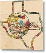Texas Rangers Logo Vintage Metal Print